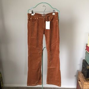 Zara Brown Corduroy Flare Pants 40